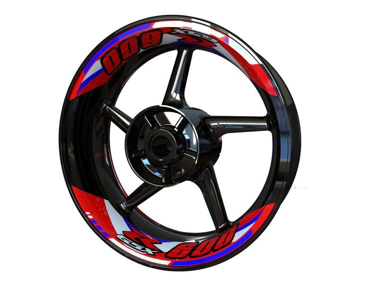 Suzuki GSX-R 600 Wheel Stickers kit - 2-Piece Design