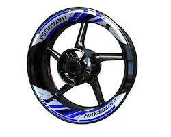 Suzuki Hayabusa Wheel Stickers kit - 2-Piece Design
