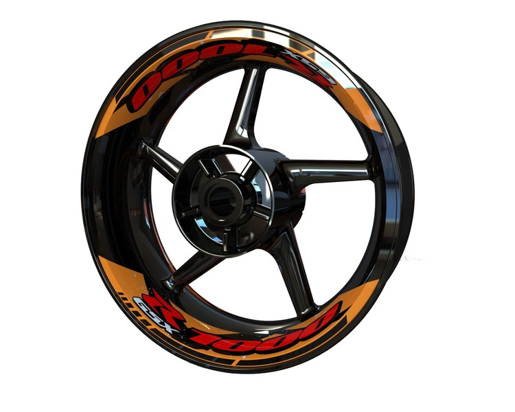 Suzuki GSX-R 1000 Rim Stickers 2-piece (Front & Rear - Both Sides Included)
