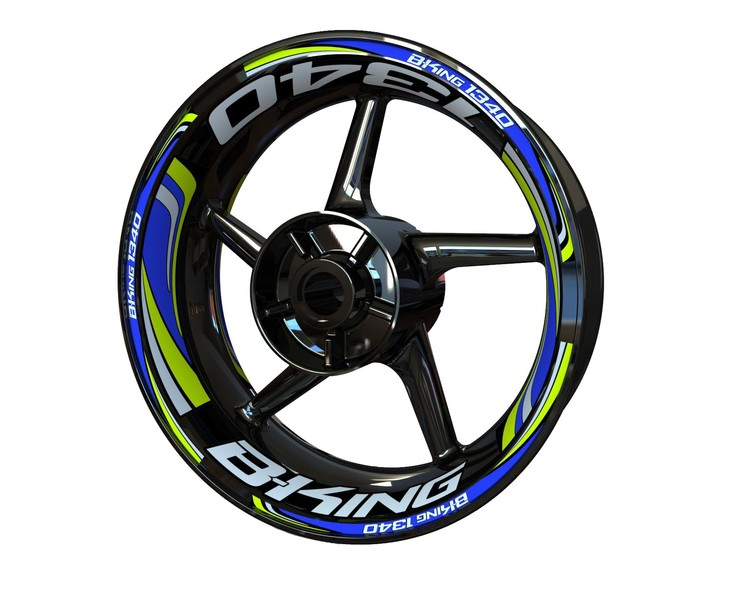 Suzuki B-King 1340 Wheel Stickers Plus (Front & Rear - Both Sides Included)