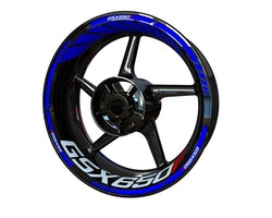 Suzuki GSX650F Wheel Stickers kit - Standard Design