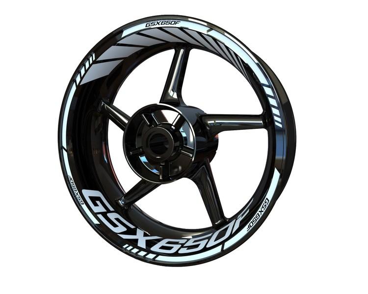 Suzuki GSX650F Wheel Stickers Standard (Front & Rear - Both Sides Included)