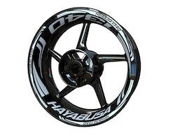 Suzuki Hayabusa 1340 Wheel Stickers kit - Plus Design