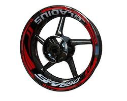Suzuki SFV650 Gladius Wheel Stickers kit - Plus Design