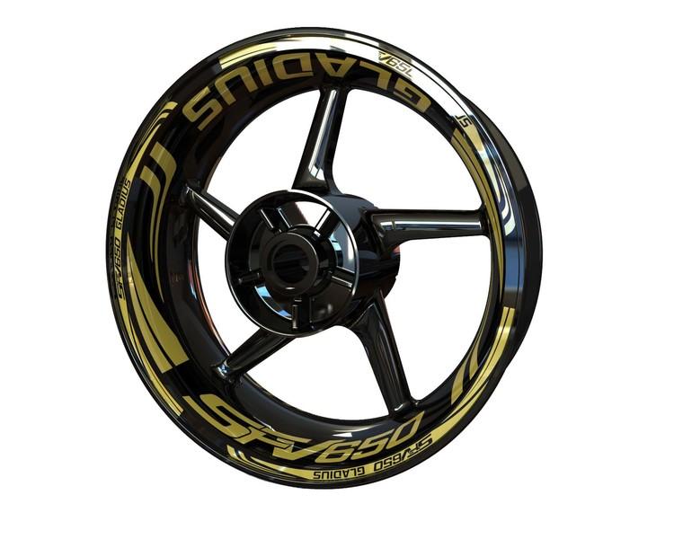 Suzuki SFV650 Gladius Wheel Stickers Plus (Front & Rear - Both Sides Included)