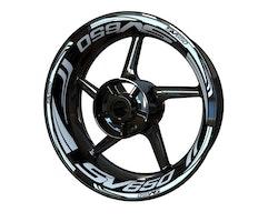 Suzuki SV650 Wheel Stickers kit - Plus Design