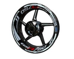 Suzuki GSR750 Wheel Stickers kit - Plus Design