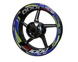 Suzuki GSX-S 1000 Wheel Stickers kit - Plus Design