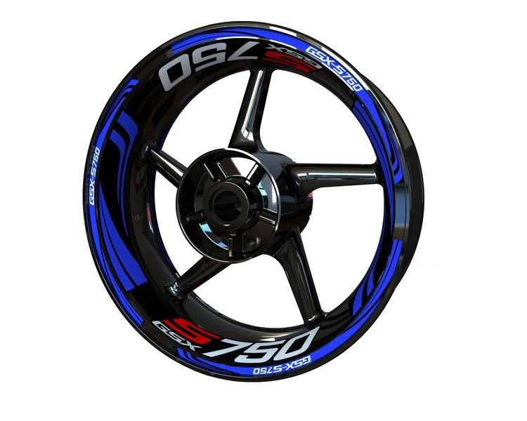 Suzuki GSX-S 750 Wheel Stickers Plus (Front & Rear - Both Sides Included)