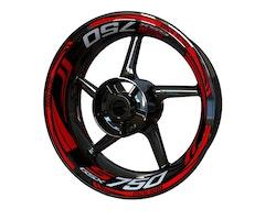 Suzuki GSX-S 750 Wheel Stickers kit - Plus Design