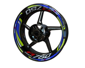 Suzuki GSX-R 750 Wheel Stickers Plus (Front & Rear - Both Sides Included)
