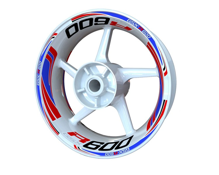 Suzuki GSX-R 600 Wheel Stickers Plus (Front & Rear - Both Sides Included)