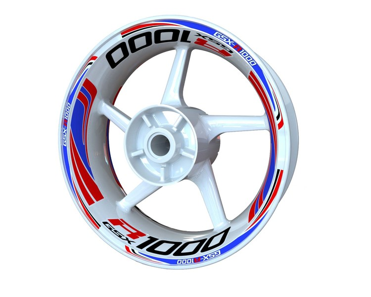 Suzuki GSX-R 1000 Wheel Stickers Plus (Front & Rear - Both Sides Included)