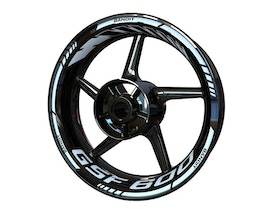 Suzuki GSF 600 Bandit Rim Stickers Standard (Front & Rear - Both Sides Included)