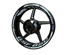 Suzuki GSF 650 Bandit Wheel Stickers Standard (Front & Rear - Both Sides Included)