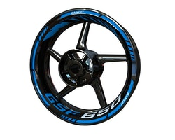 Suzuki GSF650 Bandit Wheel Stickers kit - Standard Design