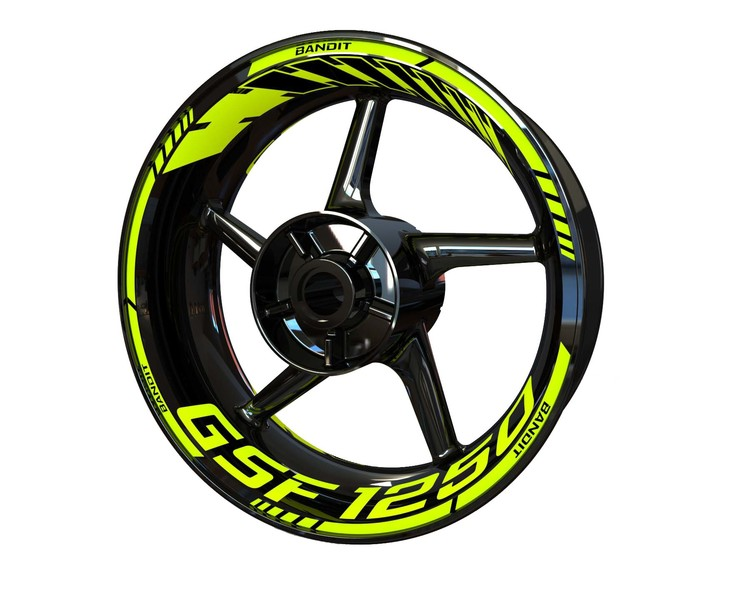 Suzuki GSF 1250 Bandit Wheel Stickers Standard (Front & Rear - Both Sides Included)