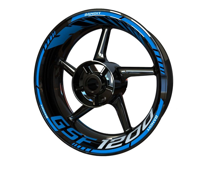 Suzuki GSF 1200 Bandit Wheel Stickers Standard (Front & Rear - Both Sides Included)