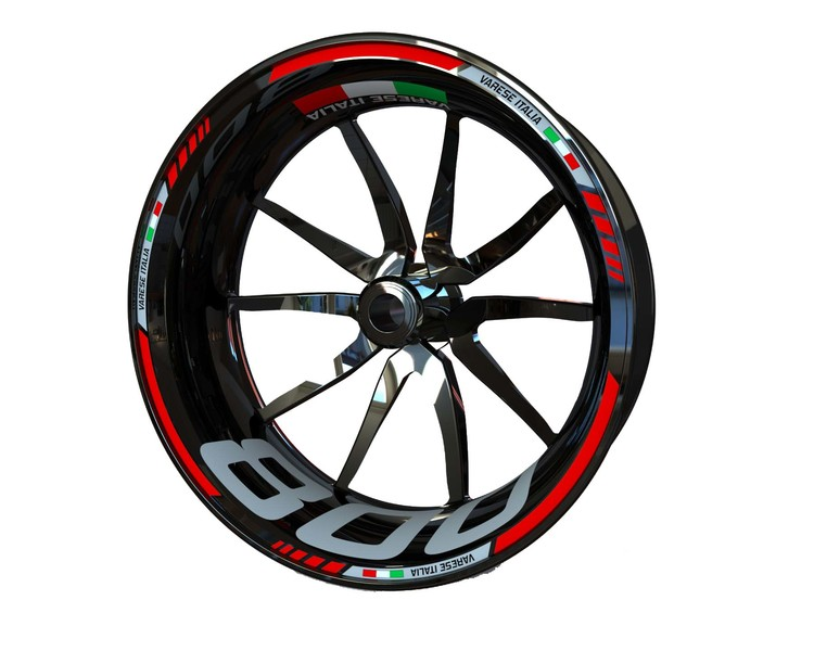 MV Agusta F3 800 and Brutale 800 Wheel Stickers Standard (Front & Rear - Both Sides Included)