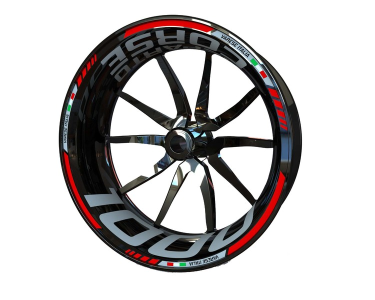 MV Agusta F4 1000 and Brutale 1000 Reparto Corse Wheel Stickers Standard (Front & Rear - Both Sides Included)