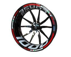 MV Agusta F4 1000 and Brutale 1000 Reparto Corse Wheel Stickers kit - Standard Design