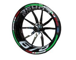 MV Agusta F3 675 and Brutale 675 Reparto Corse Wheel Stickers kit - Standard Design