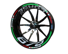 MV Agusta F3 675 and Brutale 675 Reparto Corse Wheel Stickers Standard (Front & Rear - Both Sides Included)
