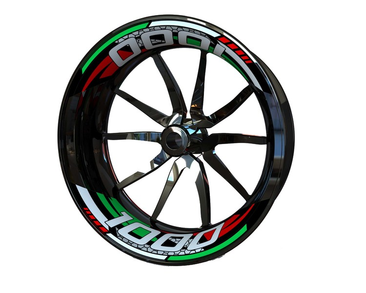 MV AGUSTA 1000 Rim Stickers 2-piece (Front & Rear - Both Sides Included)