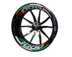 MV AGUSTA 1000 Wheel Stickers kit - 2-Piece Design