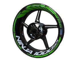 Kawasaki Ninja 1000SX Wheel Stickers Standard (Front & Rear - Both Sides Included)