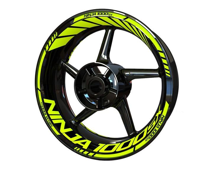 Kawasaki Ninja 1000SX Wheel Stickers kit - Standard Design