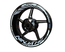 Kawasaki Ninja H2 Wheel Stickers kit - Standard Design