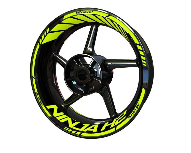 Kawasaki Ninja H2 Wheel Stickers Standard (Front & Rear - Both Sides Included)