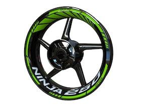 Kawasaki Ninja 250 Wheel Stickers Standard (Front & Rear - Both Sides Included)