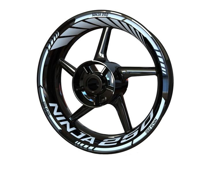 Kawasaki Ninja 250 Wheel Stickers kit - Standard Design