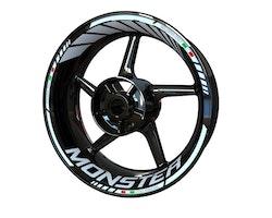 Ducati Monster 821 Wheel Stickers kit - Standard Design