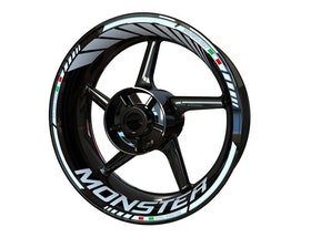 Ducati Monster 821 Wheel Stickers Standard (Front & Rear - Both Sides Included)