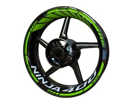 Kawasaki Ninja 400 Wheel Stickers Standard (Front & Rear - Both Sides Included)