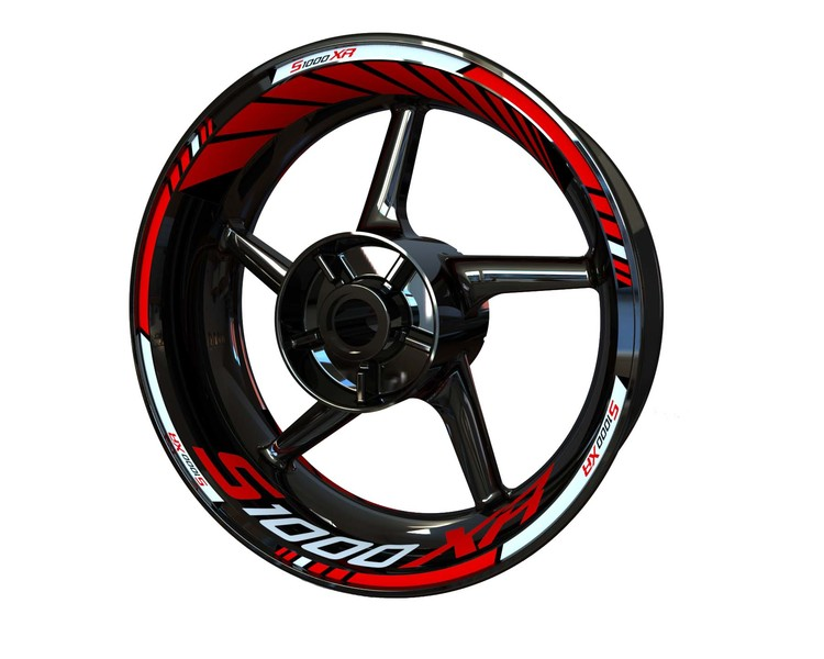 BMW S1000XR Wheel Stickers Standard (Front & Rear - Both Sides Included)