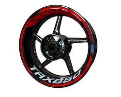 Yamaha TRX850 Wheel Stickers kit - Standard Design