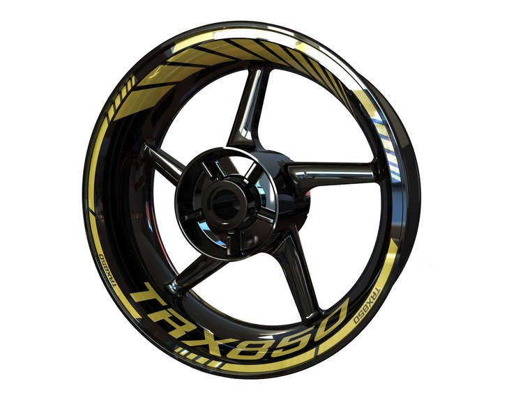 Yamaha TRX850 Wheel Stickers Standard (Front & Rear - Both Sides Included)
