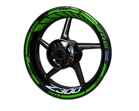 Kawasaki Z300 Wheel Stickers Standard (Front & Rear - Both Sides Included)