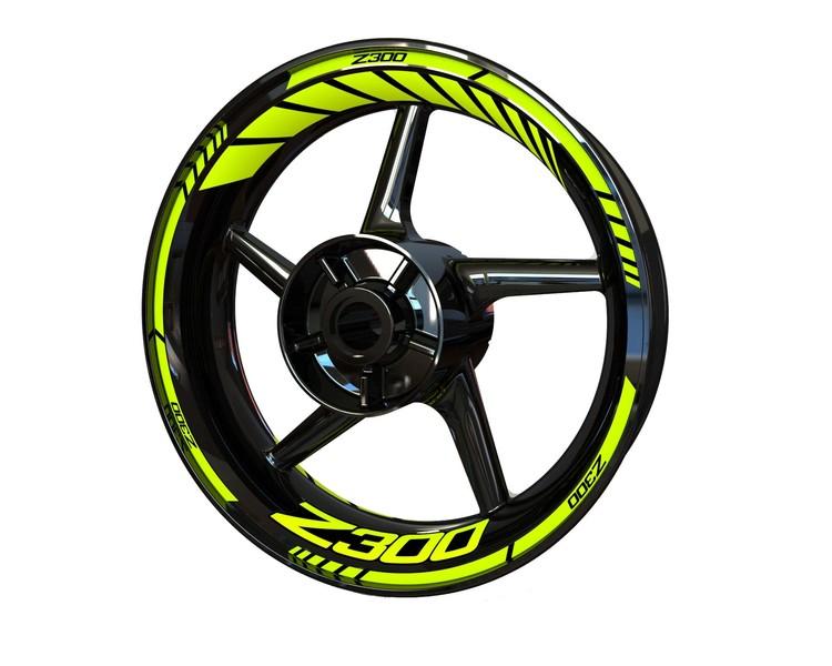Kawasaki Z300 Wheel Stickers kit - Standard Design