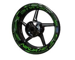 Kawasaki Ninja H2 Wheel Stickers kit - Plus Design