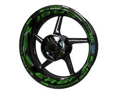 Kawasaki ER-6f Wheel Stickers kit - Plus Design