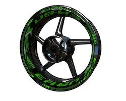 Kawasaki ER-6n Wheel Stickers kit - Plus Design