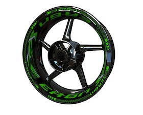 Kawasaki ER-6n Wheel Stickers Plus (Front & Rear - Both Sides Included)