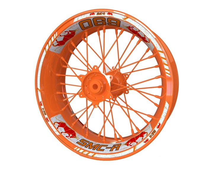 KTM SMC-R 690 BULL Wheel Stickers Standard (Front & Rear - Both Sides Included)