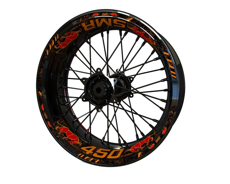 KTM SMR 450 BULL Wheel Stickers Standard (Front & Rear - Both Sides Included)