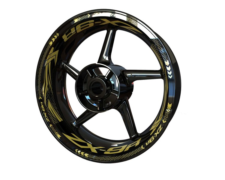 ZX-9R Rim Stickers Plus (Front & Rear - Both Sides Included)